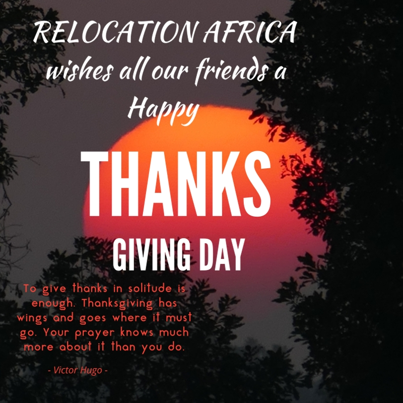 Happy Thanksgiving To All Our Clients And Friends From Relocation Africa